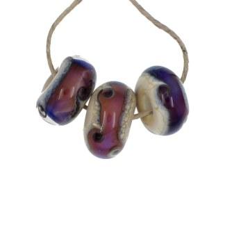 Purple Haze Wave Set 3 by Janet Crosby