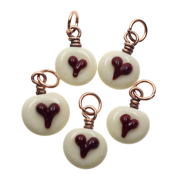 Petite Hearts Charm Set by Janet Crosby