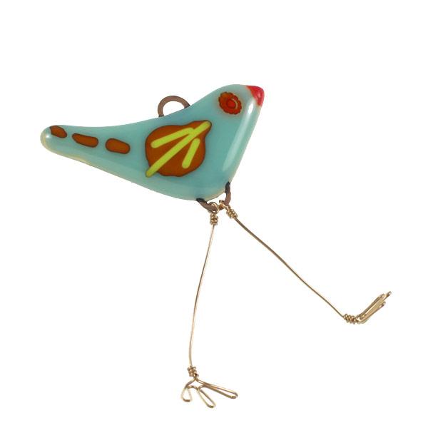 Flying Red Eye Bird by Janet Crosby