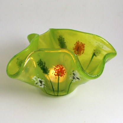 Large Tealight - Wildflowers by Janet Crosby