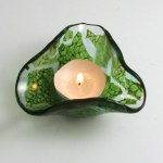 Tealight - Maidenhair by Janet Crosby