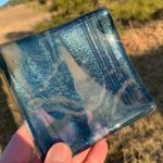 Waterfalls - fused glass dish by Janet Crosby