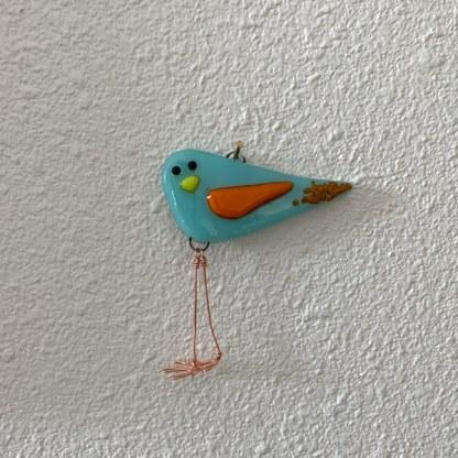 Ice Fire Mini Bird by Janet Crosby