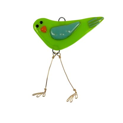 Lime Ice Mini Bird by Janet Crosby