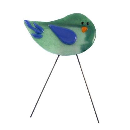 Garden Bird Mini Sparkly Teenager Bird by Janet Crosby