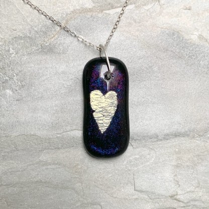Purple Galaxy Heart by Janet Crosby