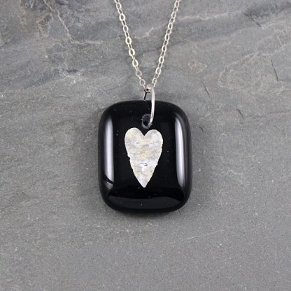 Silver Heart Pendant by Janet Crosby