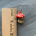 Mushroom Charm - red and white by Janet Crosby
