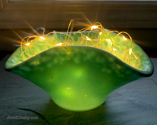 Fairy Lights in a glass vase