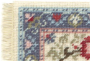 needlepoint stitches stitch diagrams 1969 chevelle wiring diagram dollhouse kits corner of a carole pastel carpet uses two tent and basketweave from the front