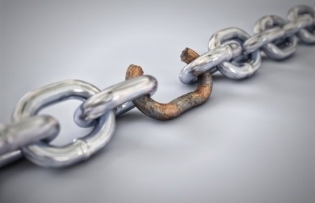a chain with a broken link