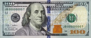 a new 100 dollar bill