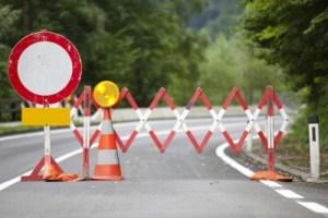 a road block