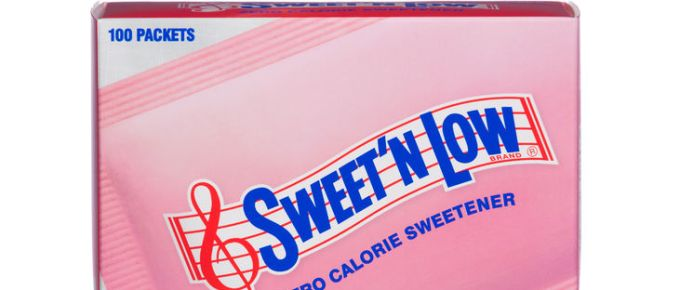 a box of sweet'n low. the popular artificial sweetener is made from granulated saccharin with dextrose and cream of tartar.