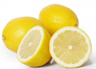 3 lemons - 2 are whole and 1 is cut in half