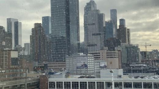 Manhattan Cruise Terminal view from the ship