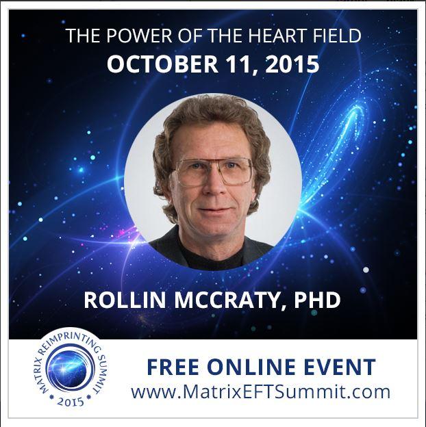 Rollin McCraty, discussing heart resonance on the Matrix EFT World Summit