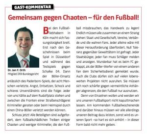 Gast-Kommentar Köln.Sport-Magazin