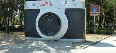 Fellini sculpture, Rimini