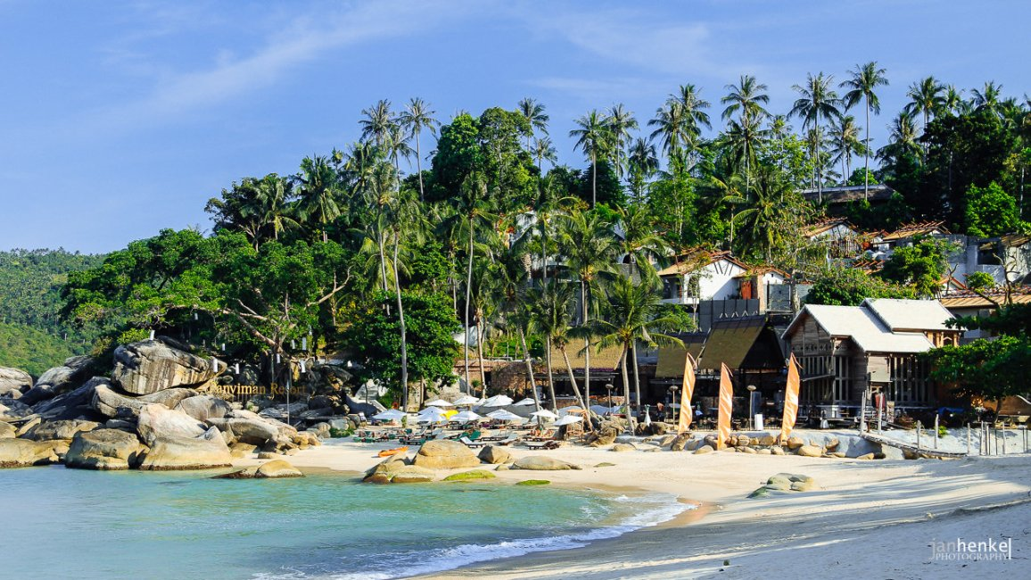 am Strand im Norden von Pha Ngan
