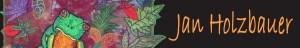 Jan Holzbauer art quilt - frog banner 2