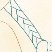 Haare, geflochtenen Zopf zeichnen