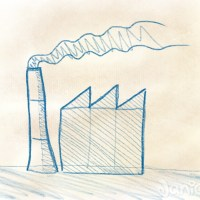 Ein Fabrikgebäude zeichnen in 3 Minuten