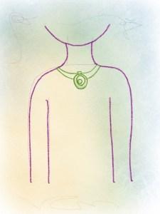 Wir zeichnen eine Halskette mit Schmuck