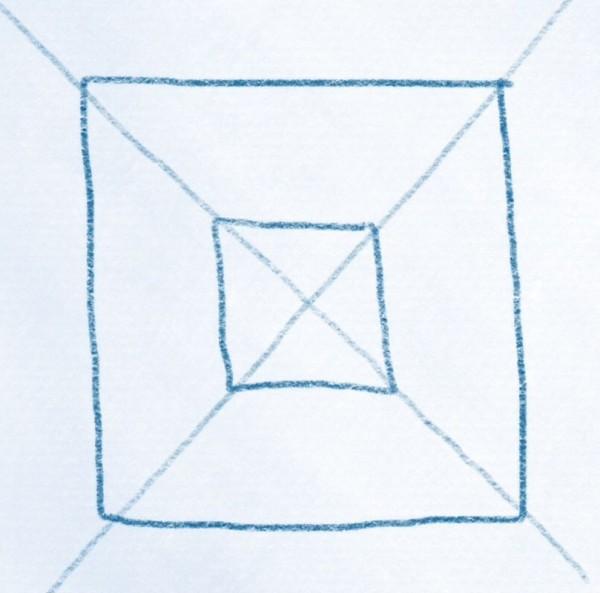 doppeltes viereck durchkreuzt