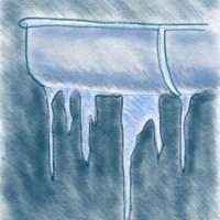 Eiszapfen zeichnen (Beispiel an einer Dachrinne)