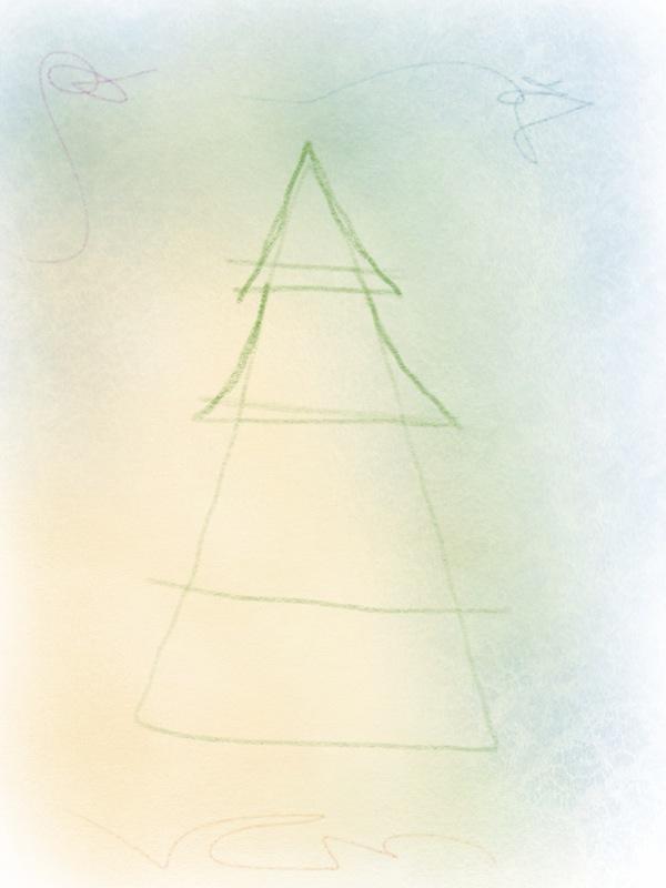 weihnachtsbaum zeichnen – 04