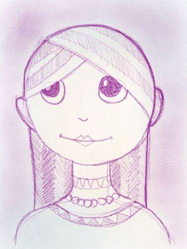 Gesichter zeichnen - Mädchengesicht