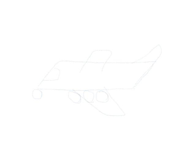 Flugzeug Zeichnen Cockpit