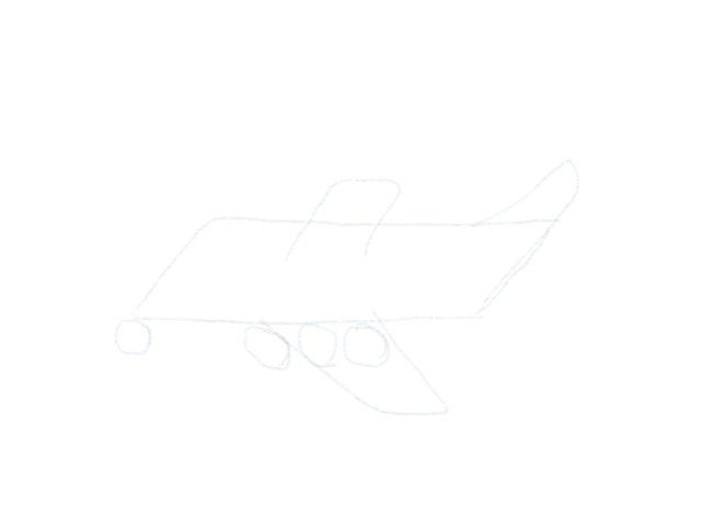 Flugzeug Zeichnen Raeder