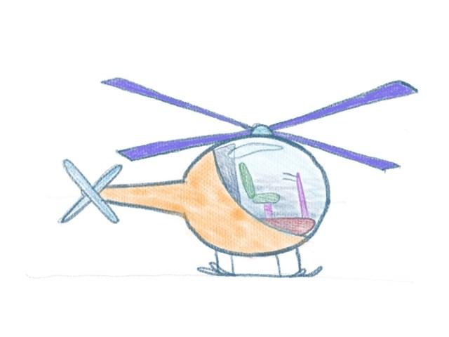 Hubschrauber zeichnen - Hubschrauber ausmalen