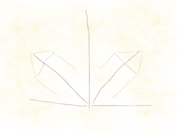 Kastanienblatt zeichnen – 06