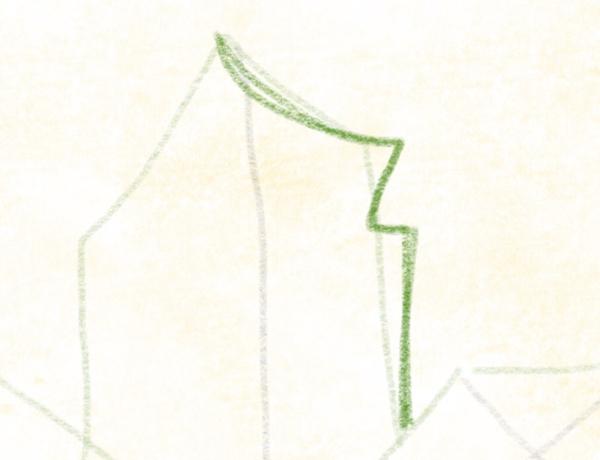 Kastanienblatt zeichnen – 09