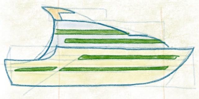 Luxusyacht zeichnen - Yacht ausmalen