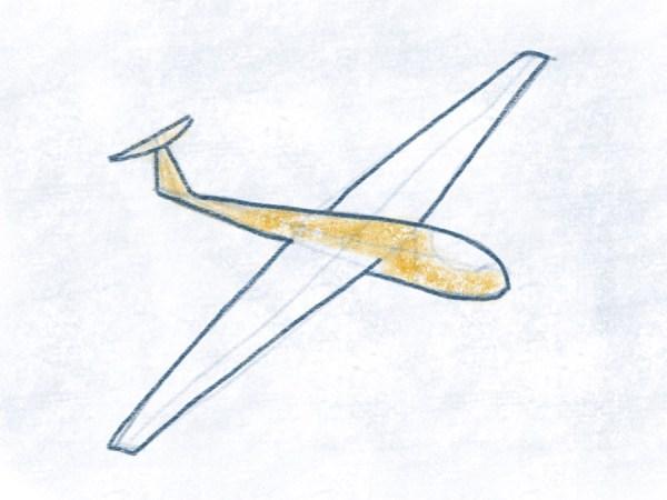 Segelflugzeug - Rumpf ausmalen