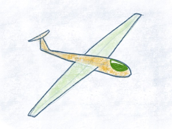 Segelflugzeug - Cockpit ausmalen