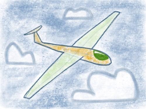 Segelflugzeug - fertiges Bild