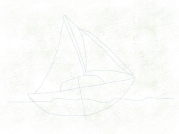 Segelboot – Vorderes Segel