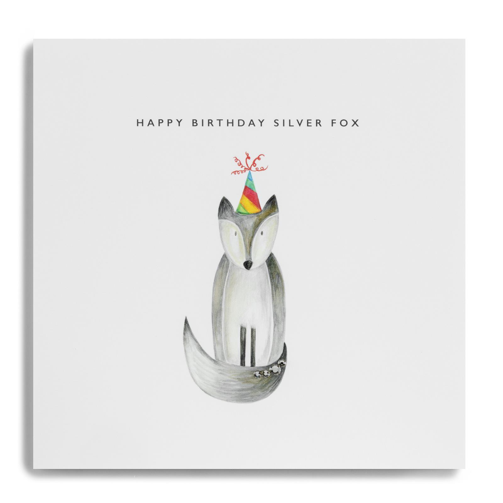cards happy bithday silver
