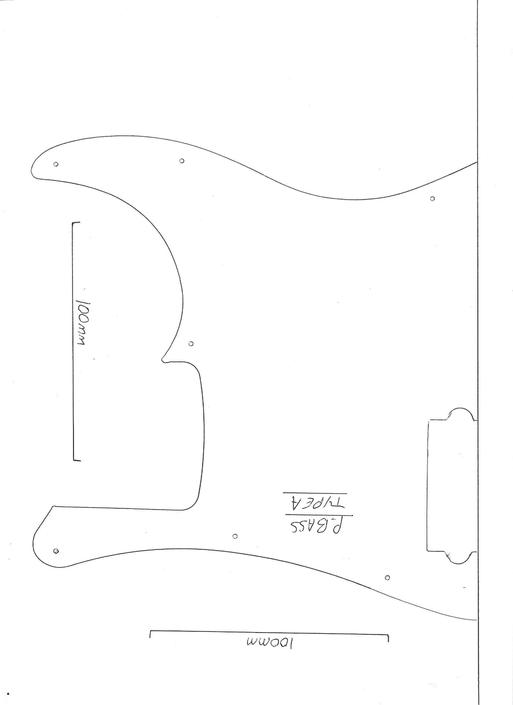 Precision bass guitar pickguard scratch plate 3 ply white