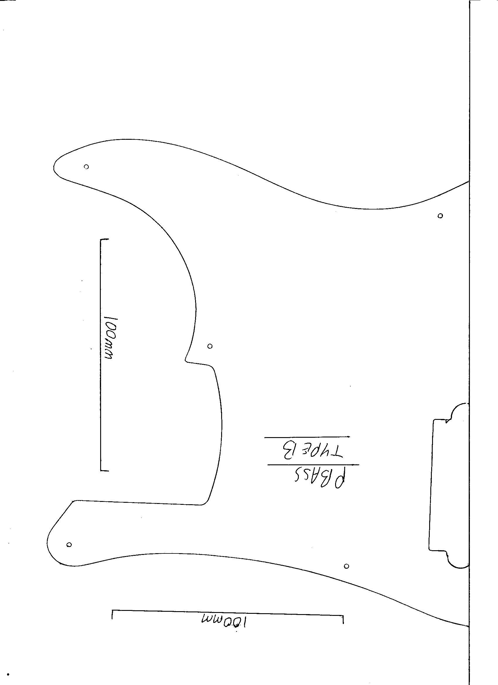 Precision bass guitar pickguard white 3 ply scratch plate