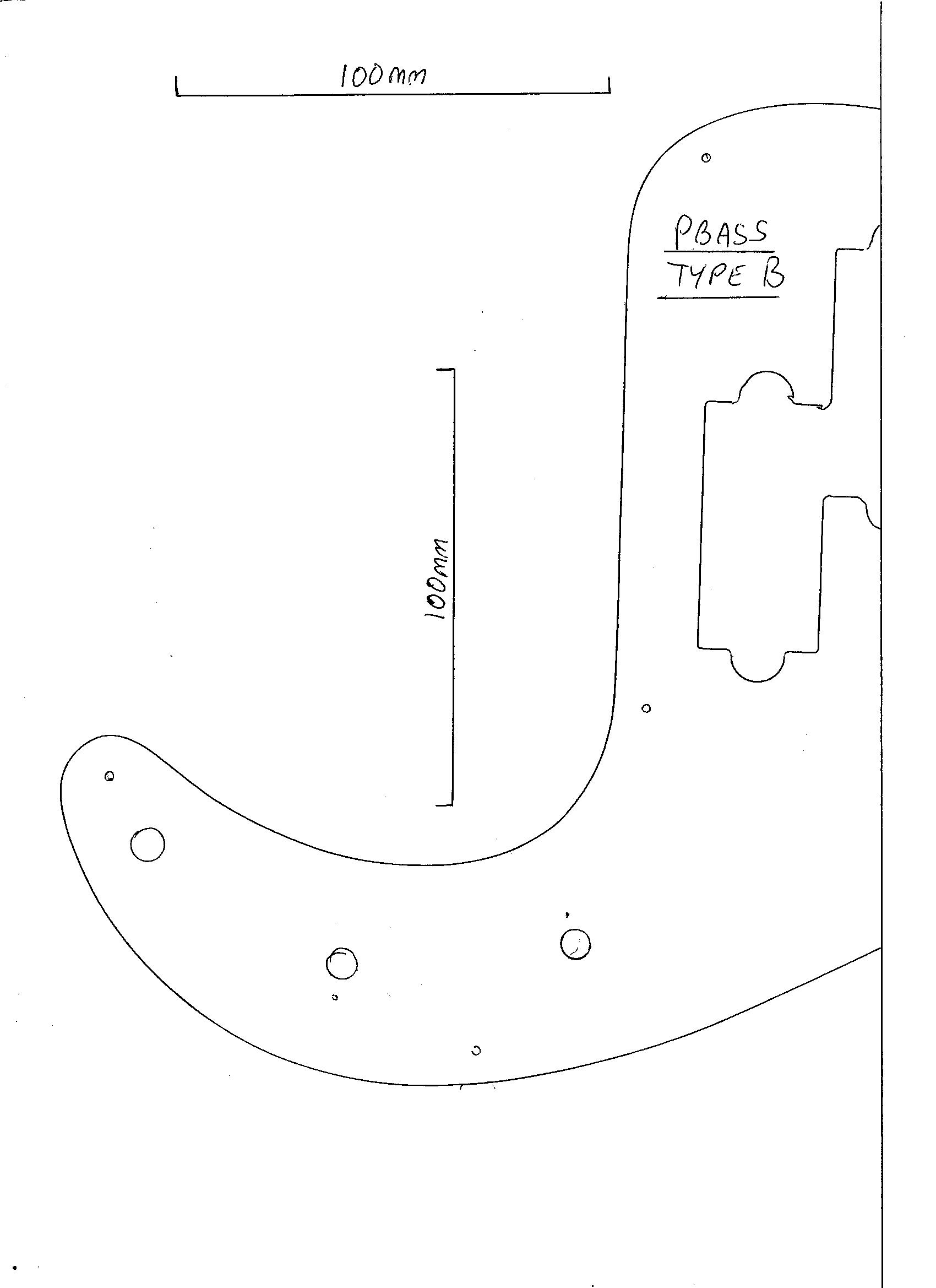 p bass body dimensions 2001 pajero radio wiring diagram precision guitar pickguard 3 ply black scratch plate