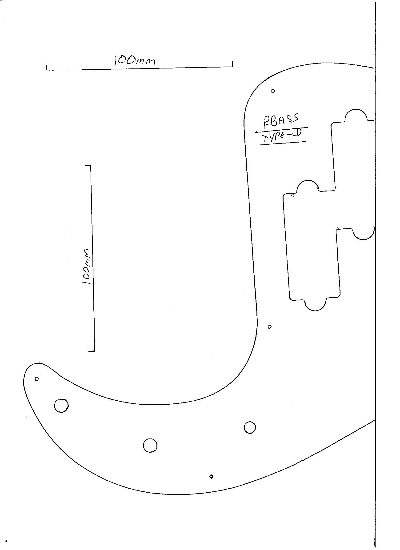 Precision bass guitar pickguard scratch plate red pearloid