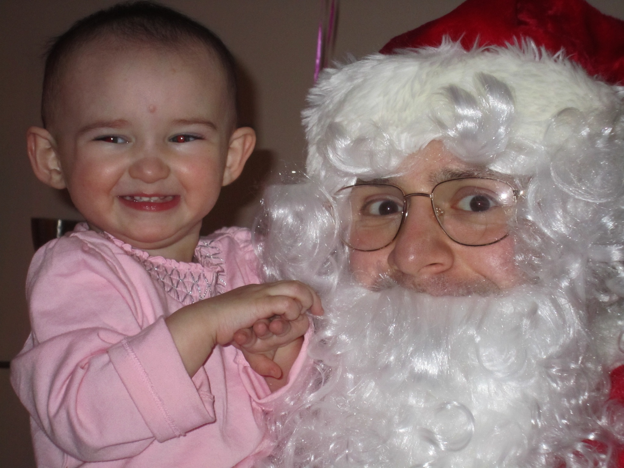 Emma and Santa Michael Circa 2010