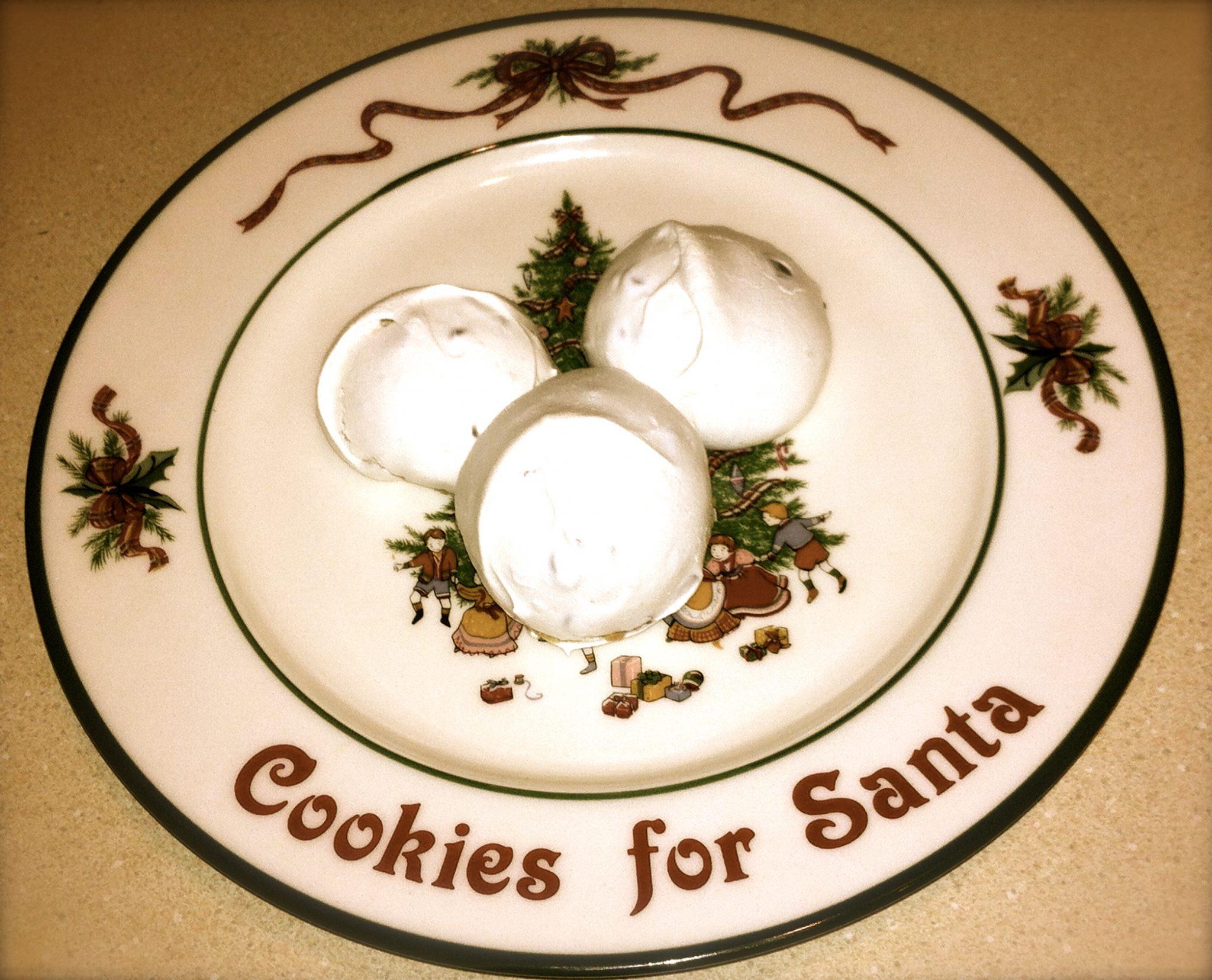 Meringue Cookie on Plate