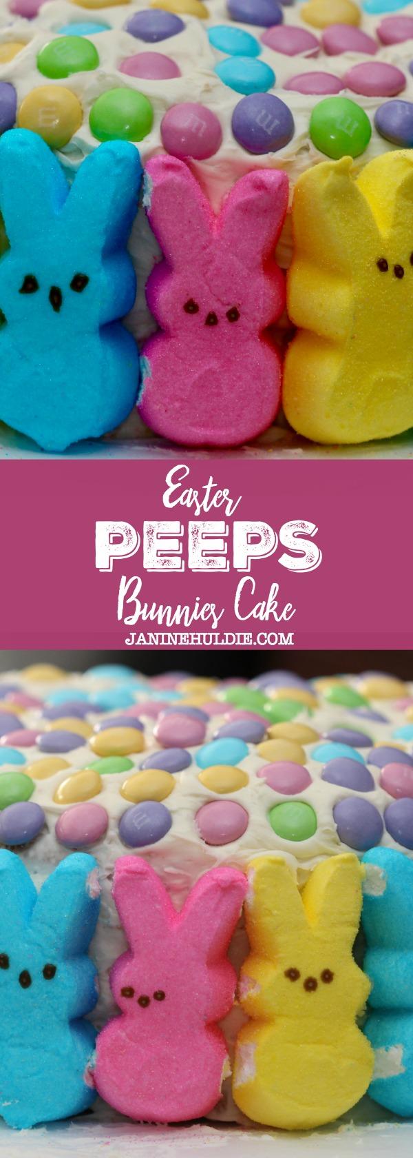 Easter Peeps Bunnies Cake